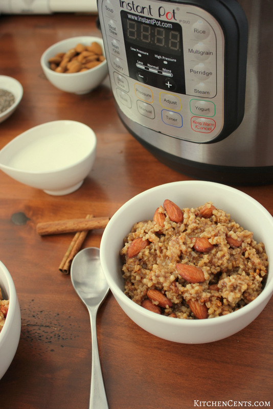 Healthy Cinnamon Almond Steel-Cut Oatmeal | KitchenCents.com