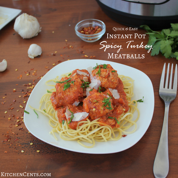 Quick and Easy Instant Pot Spicy Turkey Meatballs | KitchenCents.com