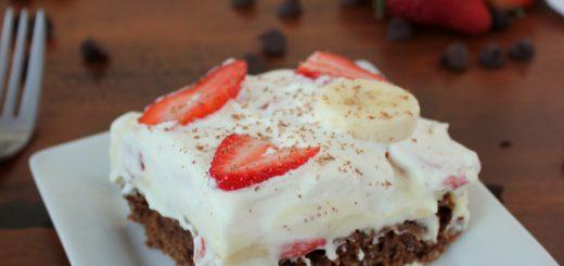 Easy Strawberry Banana Cream Brownies   KitchenCents.com