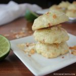 Toasted Coconut Lime Cookies with Lime Glaze