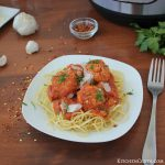 Easy Instant Pot Spicy Turkey Meatballs {with spaghetti}