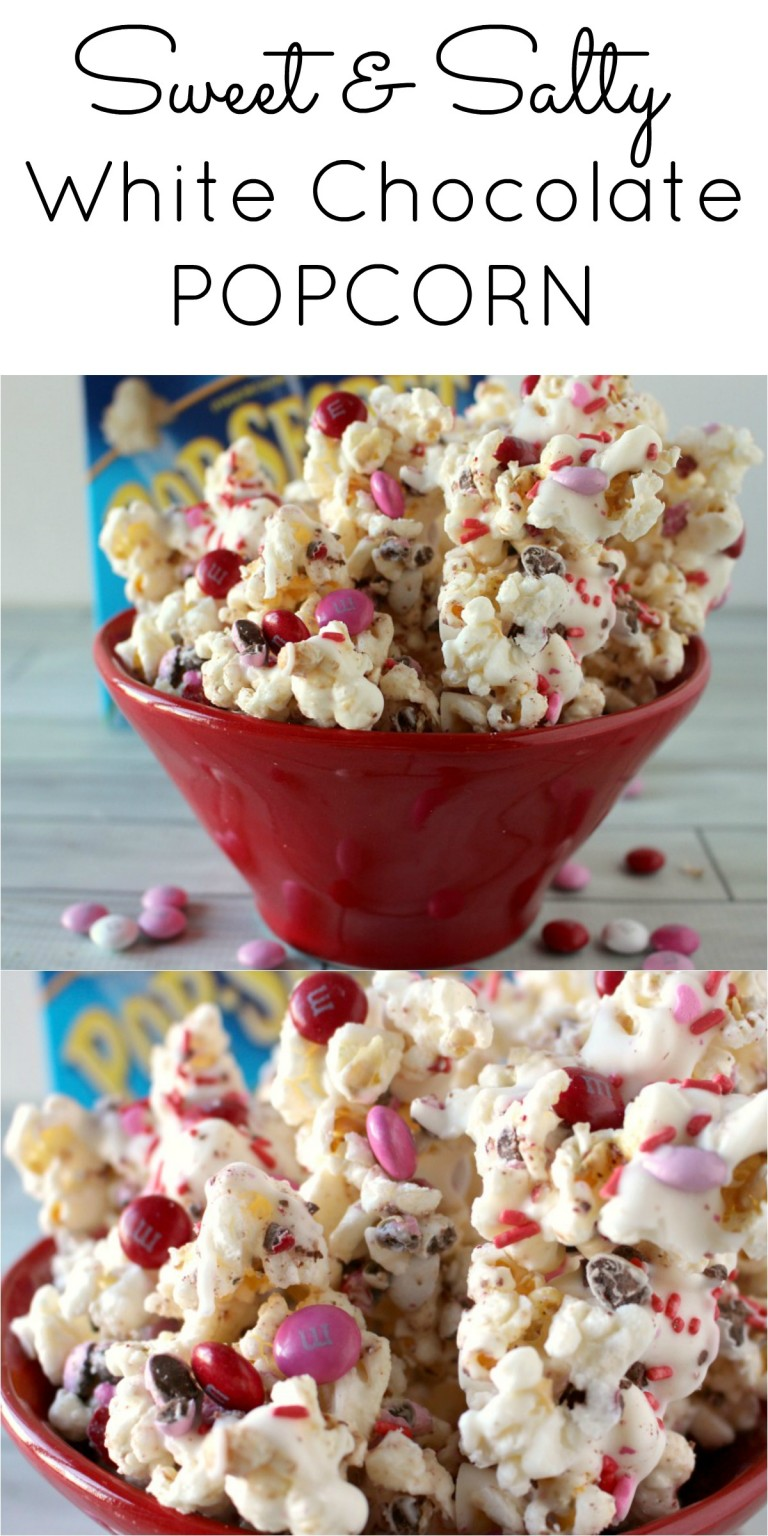 White Chocolate Popcorn | 27+ Chocolate Valentine's Desserts