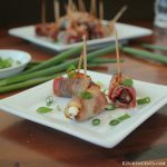 Bacon-Wrapped Onion Cream Cheese Stuffed Dates | KitchenCents.com