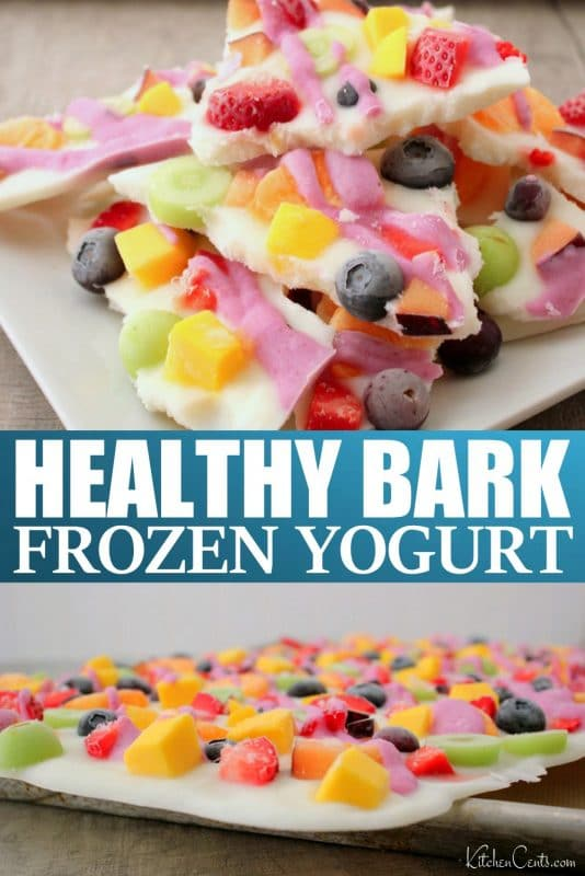 Easy Healthy Frozen Yogurt Bark recipe | Kitchen Cents