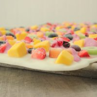 Healthy Rainbow Fruit Frozen Yogurt Bark