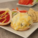 The Most Juicy Cheese Stuffed Garlic Red Bell Cheeseburgers