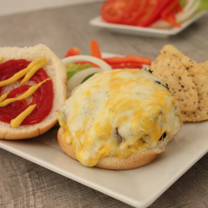 The Most Juicy Cheese Stuffed Garlic Red Bell Cheeseburgers   KitchenCents.com