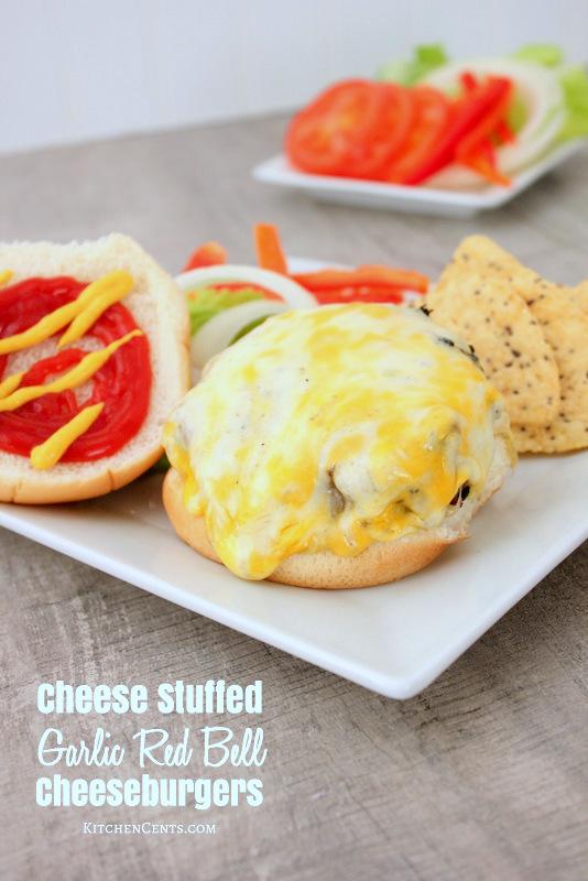 Making the best Cheese Stuffed Garlic Cheeseburger | Kitchen Cents