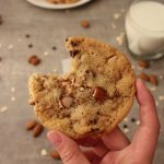 Chewy Toffee Almond Chocolate Chip Cookies | KitchenCents.com