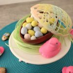 Easy Edible Chocolate Easter Egg Centerpiece KitchenCents.com