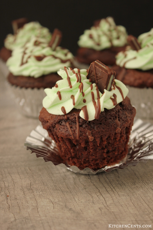 The Best Andes Mint Chocolate Cupcakes | KitchenCents.com