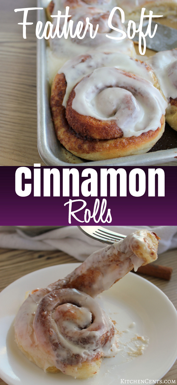 Easy Feather Soft Cinnamon Rolls | KitchenCents.com