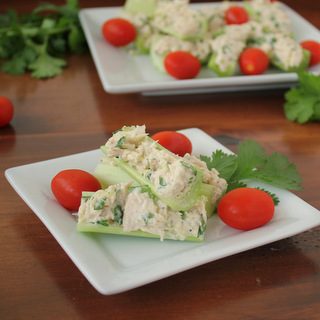 Healthy Tuna Salad Celery Sticks Snack | KitchenCents.com