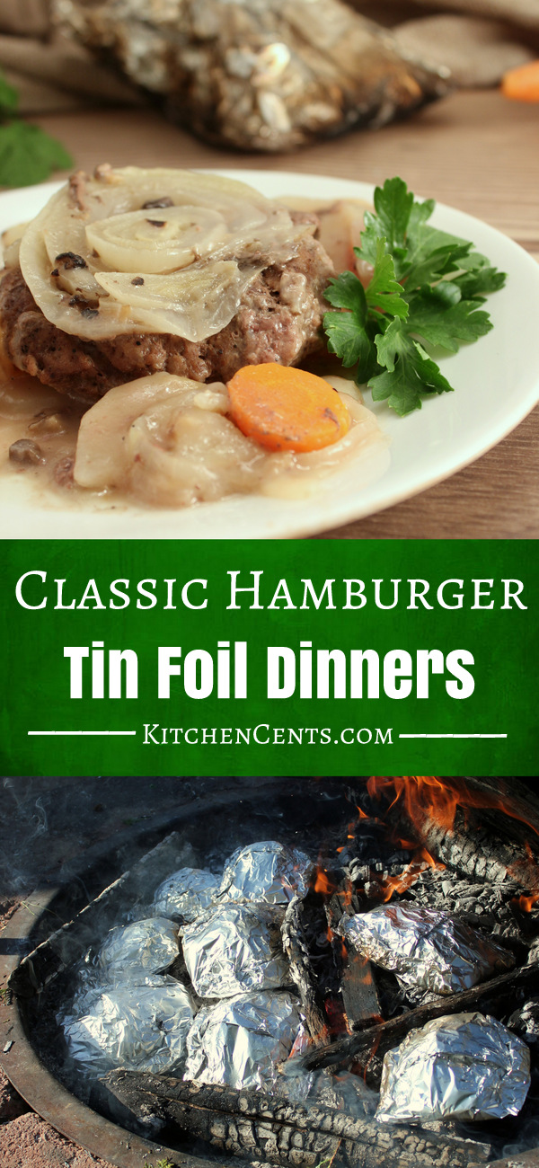 Classic Hamburger Tin Foil Dinners | KitchenCents.com