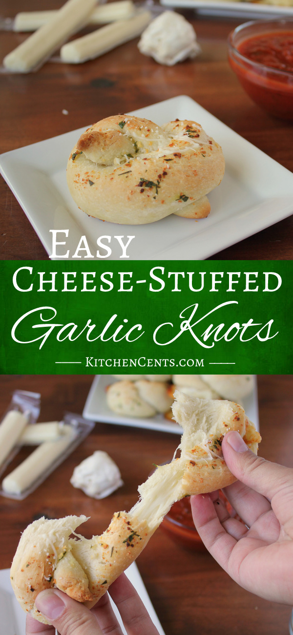 Easy Cheese-Stuffed Garlic Knots | KitchenCents.com