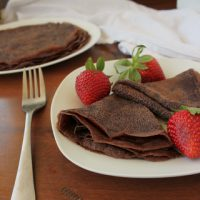 Dairy Free Chocolate Crepes