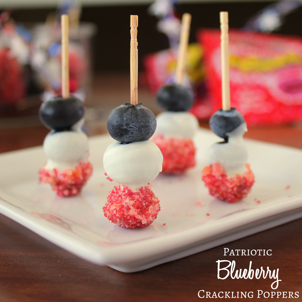 Patriotic Red White and Blueberry Crackling Poppers | KitchenCents.com