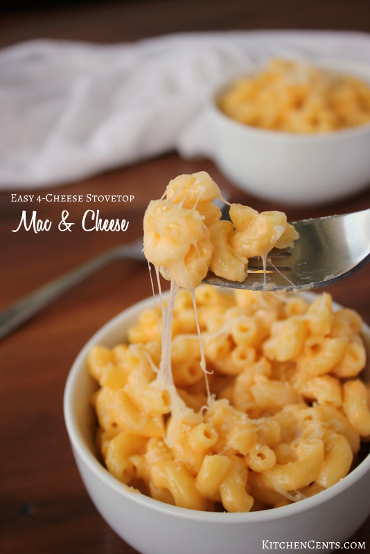 Easy 4-Cheese Stovetop Mac and Cheese | Kitchen Cents