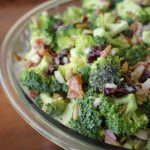 Easy Creamy Fresh Broccoli Salad