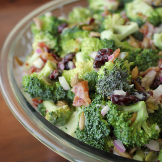 Easy Creamy Fresh Broccoli Salad | KitchenCents.com