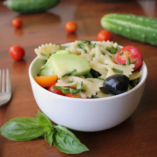 Easy Garden Fresh Italian Herb Summer Pasta Salad | Kitchen Cents