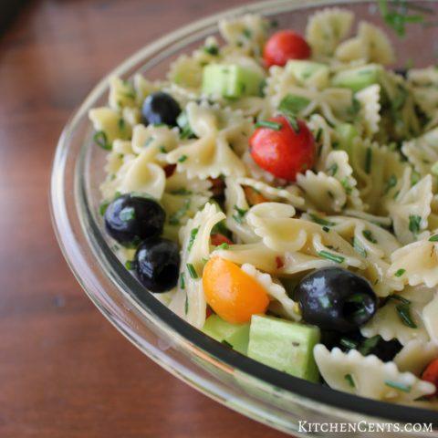 Easy Garden Fresh Italian Herb Summer Pasta Salad | Kitchen Cents