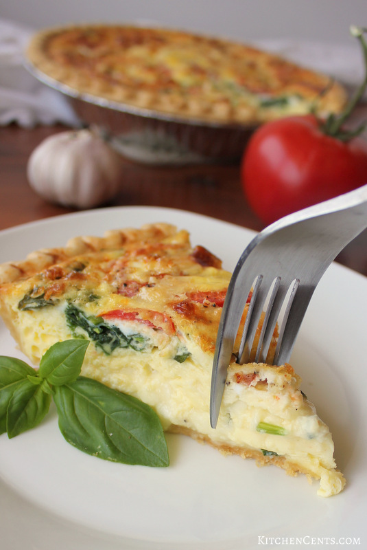 Easy Tomato Basil Caprese Quiche | Kitchen Cents