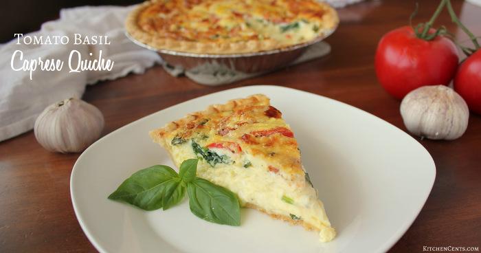 Easy Tomato Basil Caprese Quiche | Kitchen Cents