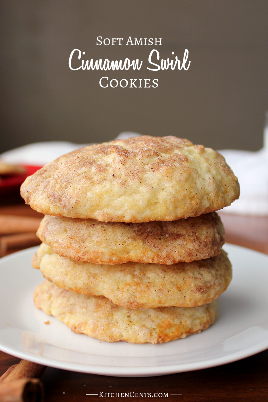 Soft Amish Cinnamon Swirl Cookies | Kitchen Cents