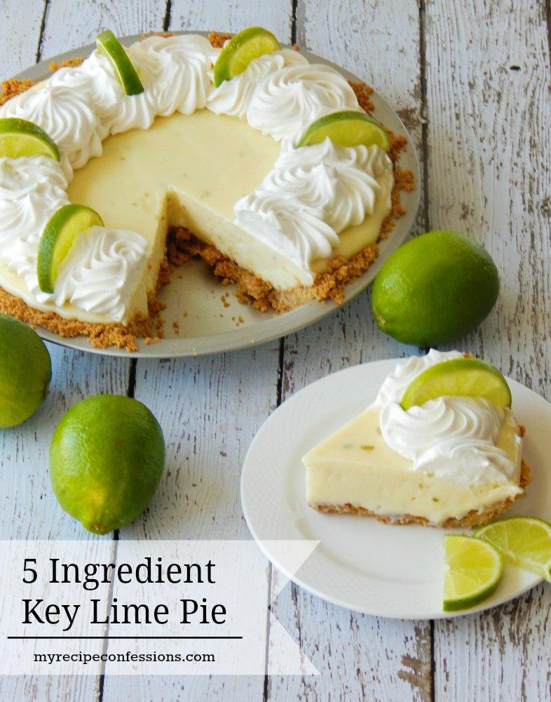 5-Ingredient Key Lime Pie | 21+ 5-Ingredients or Less Desserts