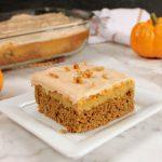 Easy Cake Mix Pumpkin Spice Cheesecake Bars | Kitchen Cents