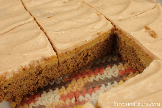 Easy Cake Mix Pumpkin Spice Cheesecake Bars | Kitchen Cents