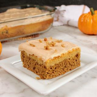 Easy Cake Mix Pumpkin Spice Cheesecake Bars   Kitchen Cents