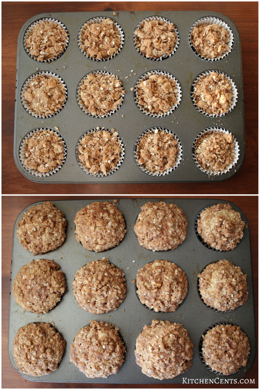 Easy Cinnamon Apple Crumb Streusel Muffins | Kitchen Cents