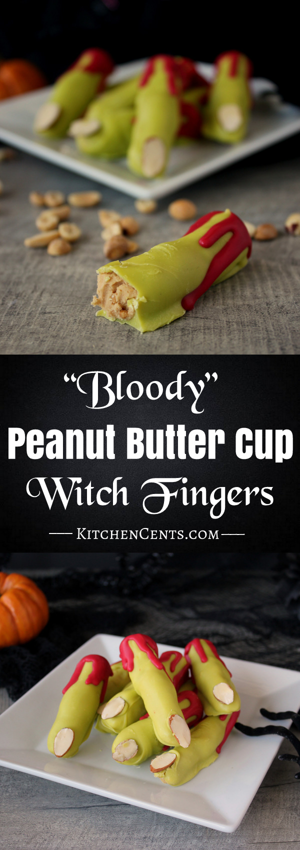Bloody Peanut Butter Cup Witch Fingers | Kitchen Cents