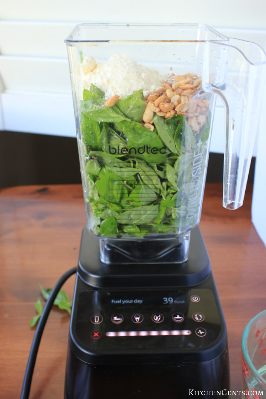 Easy Blender Basil Pesto | Kitchen Cents