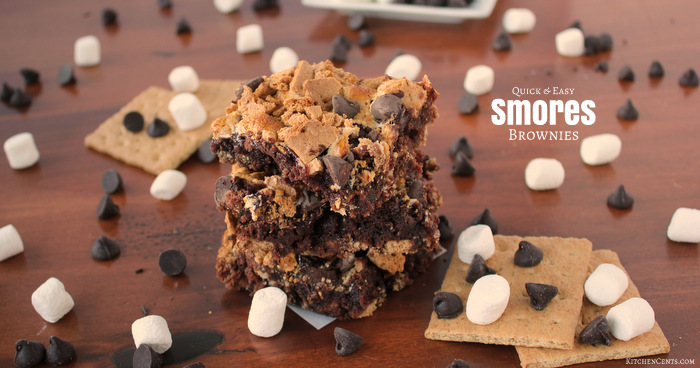 Quick and Easy Chewy Smores Brownies | Kitchen Cents