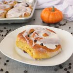 1-Hour Pumpkin Chocolate Chip Cinnamon Rolls