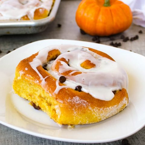 Perfect for fall Pumpkin Chocolate Chip Rolls | Kitchen Cents
