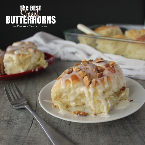 Sweet Butterhorn rolls | Kitchen Cents