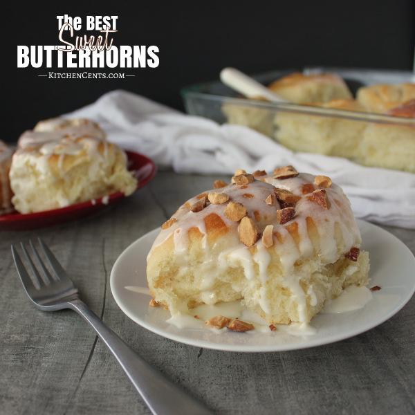 Sweet Butterhorn rolls | Kitchen Cents