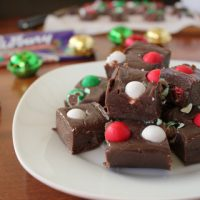 Easy 3-Ingredient Cadbury Jingle Bell Fudge
