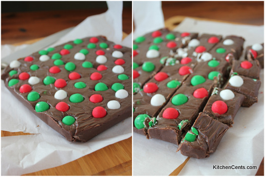 Easy 3-Ingredient Cadbury Jingle Bell Christmas Fudge | Kitchen Cents