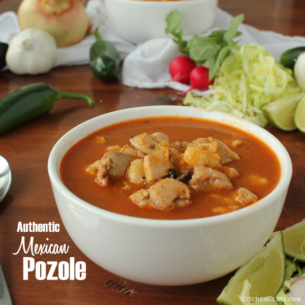 Authentic Spicy Mexican Red Pozole | Kitchen Cents