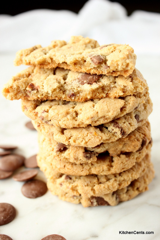 Chewy Chocolate Chunk Oat Flour Cookies | Kitchen Cents