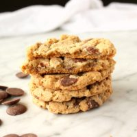 Chocolate Chunk Cookies with oat flour