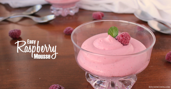 Easy 4-Ingredient Raspberry Mousse | Kitchen Cents