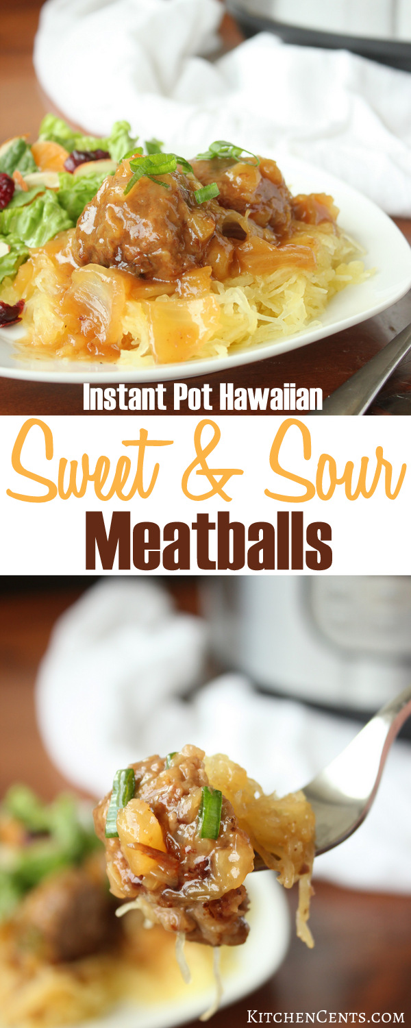 Easy Instant Pot Hawaiian Sweet and Sour Meatballs | Kitchen Cents