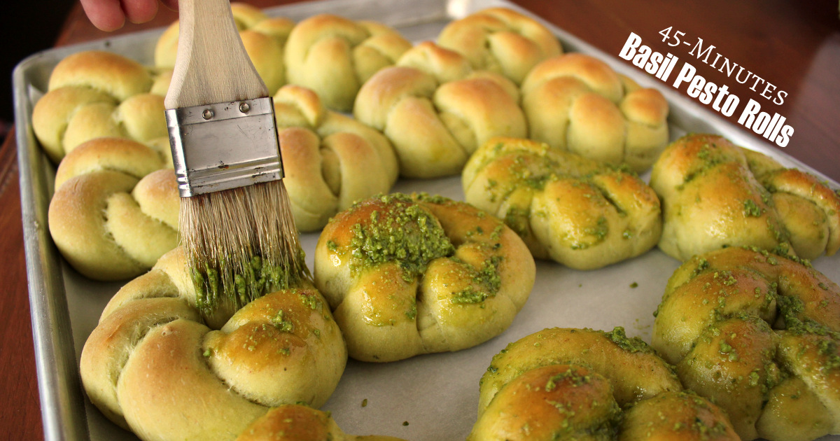 Easy 45 Minute Basil Pesto Rolls Shamrock Style Kitchen Cents