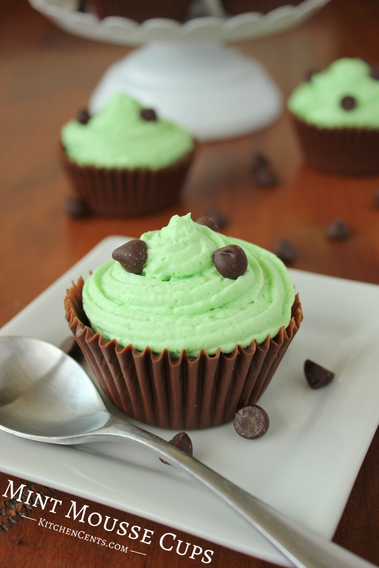 Mint Mousse Chocolate Cups | Kitchen Cents